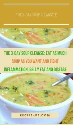 The Soup Cleanse: Eat as Much Soup as You Want And Fight Inflammation, Belly Fat And Disease fat burning soup diet fat burning soup recipes fat burning soup vegan fat burning soup chicken fat burning soup cabbage Healthy Soup Recipes, Diet Recipes, Cooking Recipes, Cleanse Recipes, Recipies, Soup Cleanse, Cleanse Detox, Detox Soups, Health Cleanse