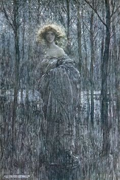Fair Helena from MidSummer Night's Dream (1908) by Arthur Rackham.