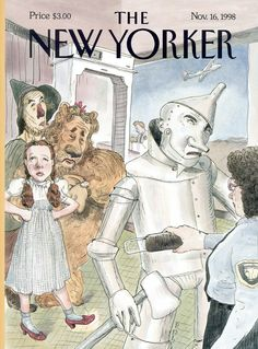 """The New Yorker - Monday, November 16, 1998 - Issue # 3821 - Vol. 74 - N° 35 - Cover """"Off To See the Wizard"""" by Barry Blitt"""