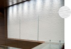 Sculptured™ Collection: Ultra-textured, sustainable MDF panels (possibility for reception area)