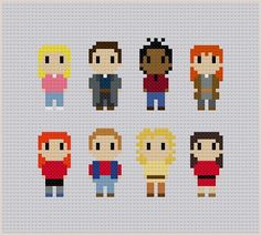 Doctor Who Companions Cross Stitch Pattern by GeekyStitches