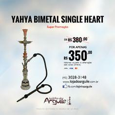 YAHYA BIMETAL SINGLE HEART De R$ 380,00 / Por R$ 350,00 até 18x de R$ 25,43 ou R$ 332,50 via depósito  Compre Online: http://www.lojadoarguile.com.br/yahya-bimetal-single-heart