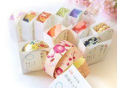 【和紙工芸品】友禅和紙テープ 12個セット  和雑貨 花楽堂