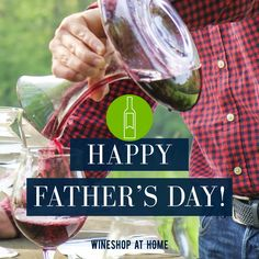 Happy Father's Day to all the wonderful dads out there! Go ahead and pour a glass (or two). You deserve it! Wine Shop At Home, Wine Club Monthly, You Deserve It, Fiji Water Bottle, Personalized Wine, Go Ahead, Wine Making, Simple Pleasures, Happy Fathers Day