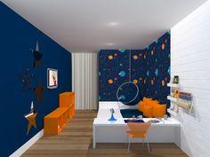 quarto infantil menino montessoriano espaço sideral
