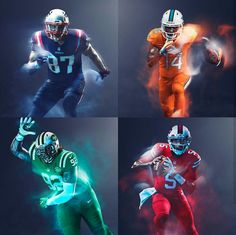 NFL  AFC East 2016 Color Rush Uniforms 44e5ebf7b