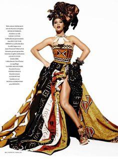 Beautiful African pattern dress
