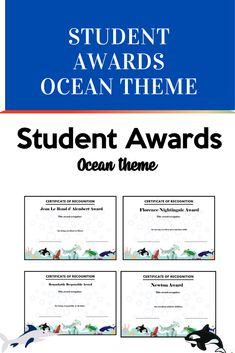 Fun Awards, Student Awards, Reward Yourself, Character Trait, Ocean Themes, Classroom Resources, High School Students, Work Hard, Effort