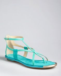 B Brian Atwood Flat Sandals - Caswell