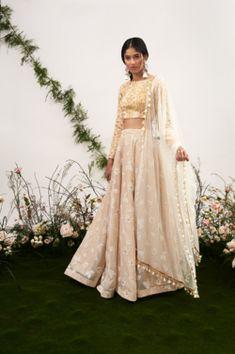 The Deewani Top x Sorissa Skirt x White Sazi Dupatta [ sole seperately] The Garden of Desire Indian Wedding Outfits, Pakistani Outfits, Bridal Outfits, Indian Outfits, Indian Clothes, Desi Clothes, Indian Attire, Indian Ethnic Wear, Dress Indian Style