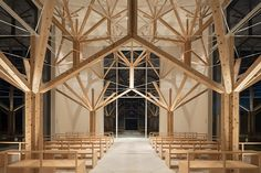 yu momoeda uses fractal geometries to create agri chapel in japan