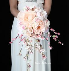 Cherry Blossom Wedding Bouquet, the first bouquet I actually like, now if I could only get it to be red and black somehow