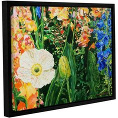 ArtWall Allan Friedlander Only Pick The Best Gallery-wrapped Floater-framed Canvas, Size: 24 x 32, Orange