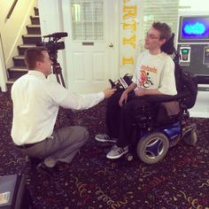 Justin at Jungle Rapids talking about their new accessible wheelchair lift. Go Justin!