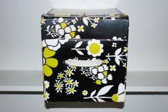 Retro Floral Wig Box Mod Floral Plastic Hat by GoodSoulVintageMI, $35.00