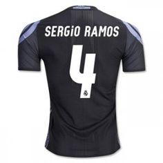 16-17 Real Madrid Football Shirt Third SERGIO RAMOS Cheap Jersey [G00887]