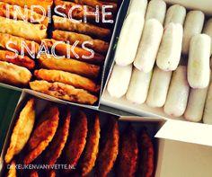 Indische snacks uit de Keuken van Yvette: lempers, Indische pasteitjes, loempia's