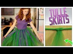 Halloween Costume DIY: No-Sew Tulle Skirt Video Tutorial | Gurl.com