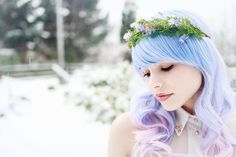 Floral crown, woodland headband, moss tiara, whimsical hair accessory - The road less traveled. $45.00, via Etsy.