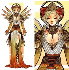 Here's my take on Mercy from Overwatch, with the theme 'Patron Saint of Healing'. Inspired by the Met Gala and Catholic Saints. FAQ Yes… Overwatch Tattoo, Overwatch Fan Art, Overwatch Mercy, Female Character Design, Character Design Inspiration, Fantasy Inspiration, Painting Inspiration, Catholic Saints, Patron Saints
