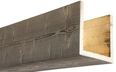 Our box beams provide all of the characteristics of a solid wood beam, at a fraction of the weight! Always made from real oak or cedar, 15 colors. Shiplap Ceiling, Ceiling Beams, Ceilings, Cedar Box, Faux Wood Beams, Wood Sample, Wood Siding, Weathered Oak, Custom Boxes