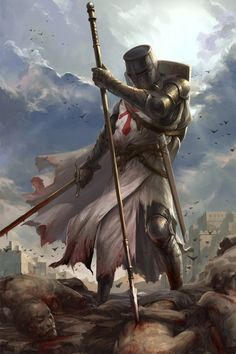 Discover and share Knights Templar Warrior Quotes. Medieval Knight, Medieval Armor, Medieval Fantasy, Fantasy Warrior, Fantasy Art, Templar Knight Tattoo, Fantasy Character Design, Character Art, Crusader Knight