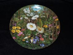 """1990 Furstenberg Wild Beauties """"By the Fence"""" Collector Plate by Hans Grab by ThePlateHutchII on Etsy"""