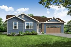 Brand new charming and intimate ranch-style home plan.