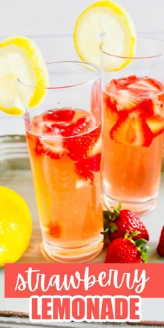 Fresh homemade strawberry lemonade - made with fresh lemons and strawberries is one of the best summer lemonades. Easy to make in minute too! #lemonade #lemons #strawberries #summer #drink #easyrecipe Real Lemon Lemonade Recipe, Easy Strawberry Lemonade Recipe, Best Lemonade, Homemade Lemonade Recipes, Homemade Desserts, Summer Drink Recipes, Fruit Recipes, Baking Recipes, Strawberries