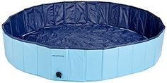 Dog Bathtub, Y.S.Y Foldable PVC Pet Swimming Pool Dog Cats Bathing Tub (M 47inch.D x 12inch, Blue) -- Want additional info? Click on the image.