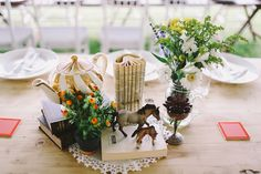 unique wedding centerpieces - photo by Lara Hotz http://ruffledblog.com/sydney-polo-club-wedding
