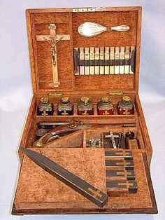 Antique Vampire Hunting Kit - everything you could need.
