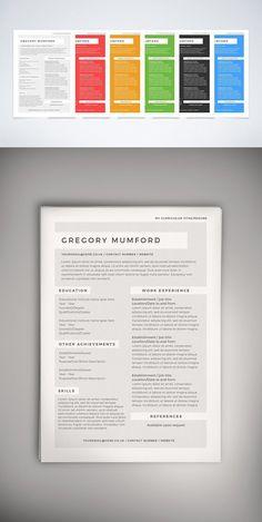 Resumedoc Modern Media Kit Templatestationery Templates$15.00  To Design .