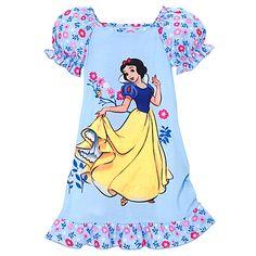 Songbird Snow White Nightshirt for Girls