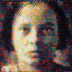 """If It's Hip, It's Here: The Unusual Art of Christian Faur. Portraits Made With Crayons and More. """"True Color Series Girl 1"""" - 2008"""