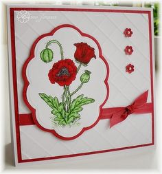 Just Inklined Stamping Blog: We will remember them - Beautiful card for Veterans Day!