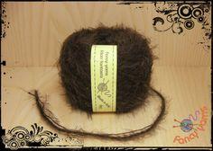 1 gomitolo 50 grammi, colore marrone filato moda di Fancy yarns su DaWanda.com