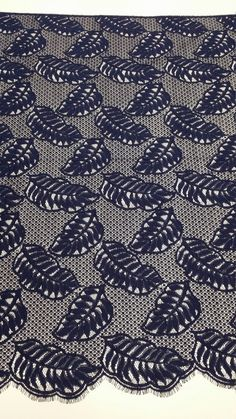 Dark Blue lace fabric Navy blue lace by DelightfulWedding on Etsy