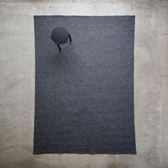 Tate Graphite Braided Rug 8x11 | Unison