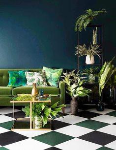 inspiracje w moim mieszkaniu: Zielona kanapa do salonu / Green sofa for the living room