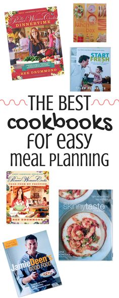 Easy dinner ideas! Most can be made in 30 minutes or less and in one pan! These are the best cookbooks for meal planning. Every busy mom needs these on her shelf!