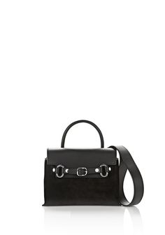 ALEXANDER WANG ATTICA MINI CROSSBODY IN BLACK SUEDE WITH RHODIUM Shoulder bag Adult 12_n_f