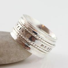 Mothers Ring Spinner / Personalized Spinner by tinydaisiesdesigns, $173.50