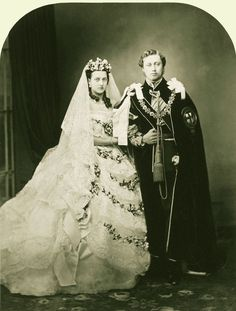 Prince Albert Edward and Princess Alexandra on their wedding day, 1863, later King Edward VII and Queen Alexandra