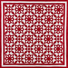 Winter Time Quilt: Do you love quilts where the blocks create a secondary design once they are put together? Then this quilt from Red & White Quilting by Linda Pumphrey is for you. The Cactus Flower and Snowflake blocks are striking on their own. Paired together, they create an eye-catching secondary design. Quilt Block Patterns, Pattern Blocks, Quilt Blocks, Two Color Quilts, Blue Quilts, Pattern Paper, Paper Patterns, Red And White Quilts, Quilting Projects