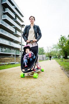 Testday4 U2039 LongboardStroller Skateboard Helmet, Longboard Design, Objet  Wtf, Baby Strollers, Baby