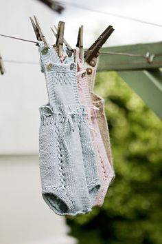 Knit baby romper