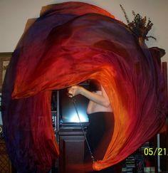 Sahariah's Silk Bellydance Veil Killer Tornado by SilksbySahariah, $90.00