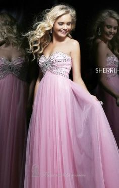 Strapless Beaded Gown by Sherri Hill 11089