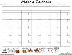 Worksheets: Make a Calendar!